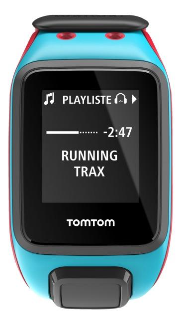 """TomTom Sportuhr Runner 2 """"Music"""" Türkis/Rot, L"""