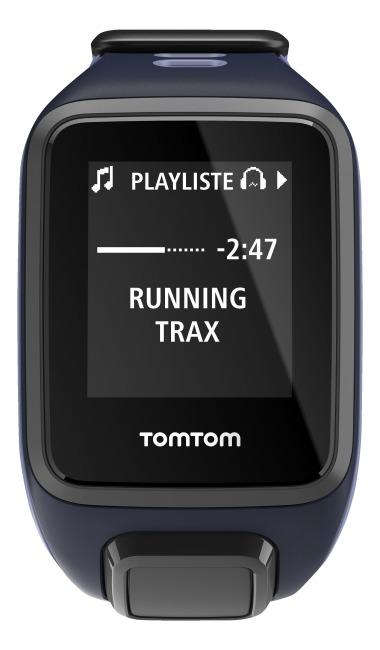 """TomTom Sportuhr Runner 2 """"Cardio + Music"""" Dunkelblau/Lila, S"""