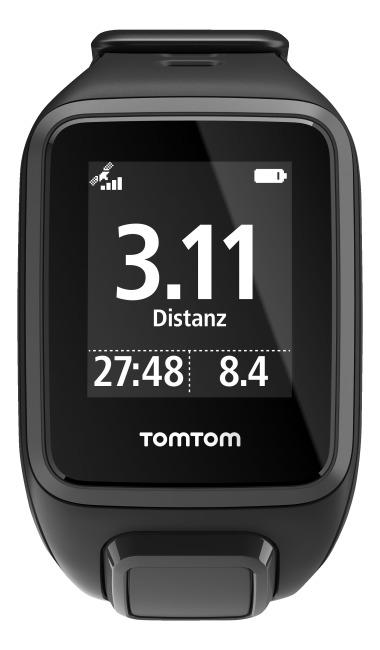 """TomTom Sportuhr Runner 2 """"Cardio + Music"""" Schwarz/Anthrazit, S"""
