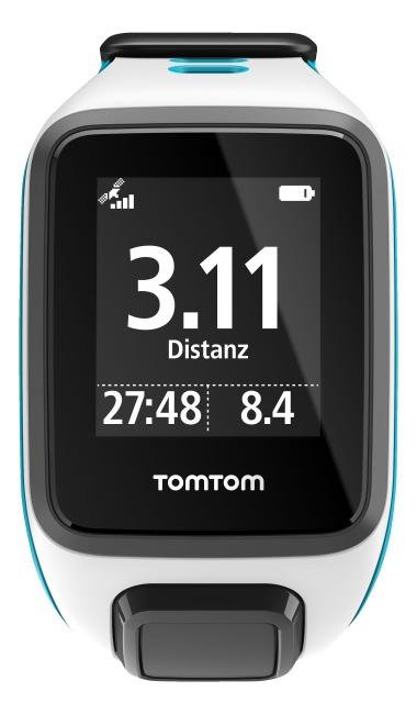 """TomTom Sportuhr Runner 2 """"Cardio + Music"""" Weiß/Türkis, S"""