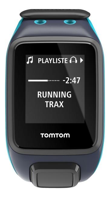 """TomTom Sportuhr Runner 2 """"Music+Bluetooth Kopfhörer"""" Dunkelblau/Türkis, L"""