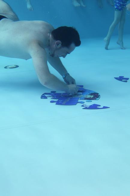 Aqua Game Puzzle Kleine Meerjungfrau, Rund