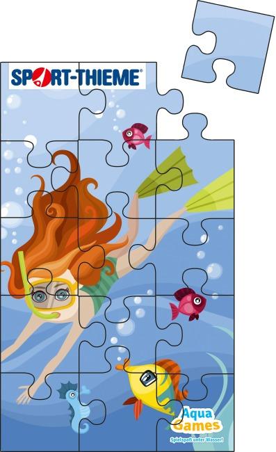 Aqua Game Puzzle Unterwasserwelt, Rechteckig, 150x90 cm