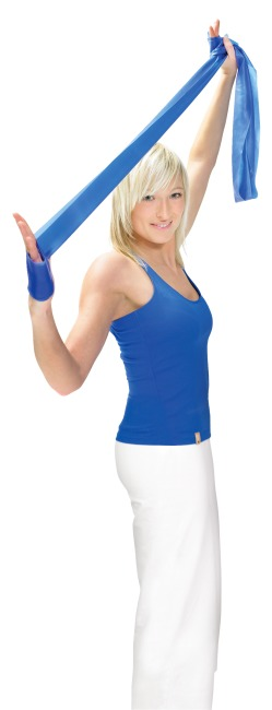 Artzt Vitality træningsbånd, latexfri 2,5 m, Gul, let