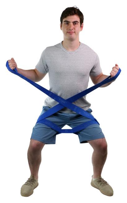 "CanDo® Multi-Grip™ Fitnessband ""Exerciser Rolle"" Blau, extra stark"