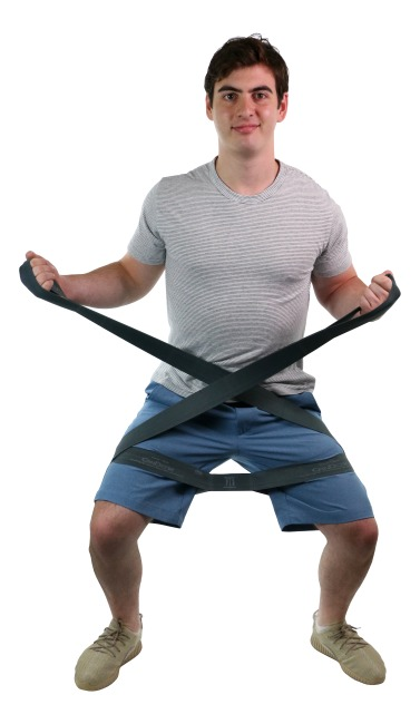 """CanDo® Multi-Grip™ Fitnessband """"Exerciser Rolle"""" Silber, ultra stark"""