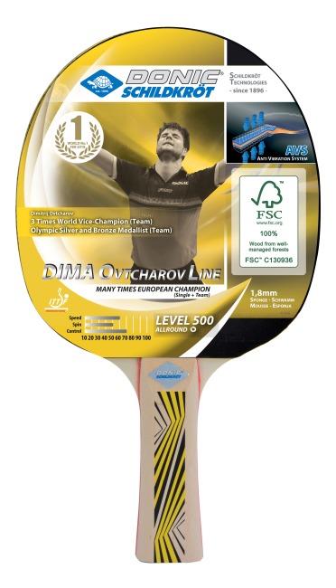 """DONIC® Schildkröt Tischtennisschläger  """"Ovtcharov 500"""""""
