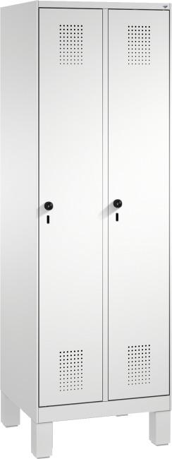 """Garderobenschrank """"S3000 Evolo"""" mit Füßen 185x60x50 cm/ 2 Abteile, 30 cm"""