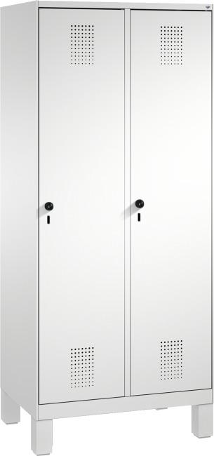 """Garderobenschrank """"S3000 Evolo"""" mit Füßen 185x80x50 cm/ 2 Abteile, 40 cm"""