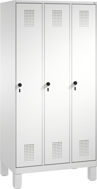 """Garderobenschrank """"S3000 Evolo"""" mit Füßen 185x90x50 cm/ 3 Abteile, 30 cm"""