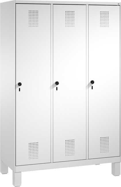 """Garderobenschrank """"S3000 Evolo"""" mit Füßen 185x120x50 cm/ 3 Abteile, 40 cm"""