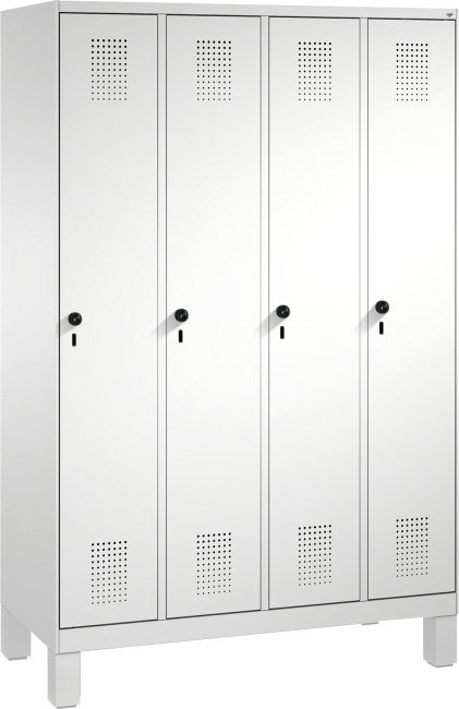 """Garderobenschrank """"S3000 Evolo"""" mit Füßen 1850x1200x500 mm/4 Abteile, 300 mm"""