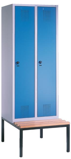 """Garderobenschrank """"S3000 Evolo"""" mit Sitzbank 2090x600x500 mm/2 Abteile, 300 mm"""