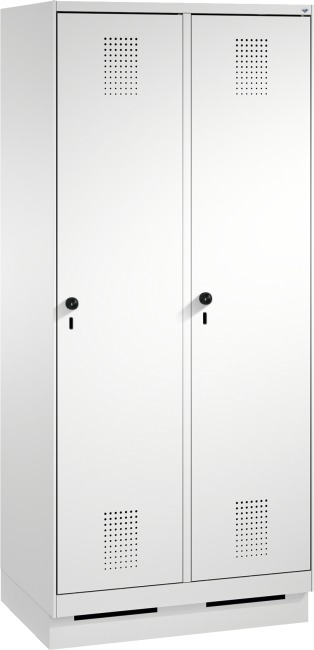 """Garderobenschrank """"S3000 Evolo"""" mit Sockel 1800x800x500 mm/2 Abteile, 400 mm"""