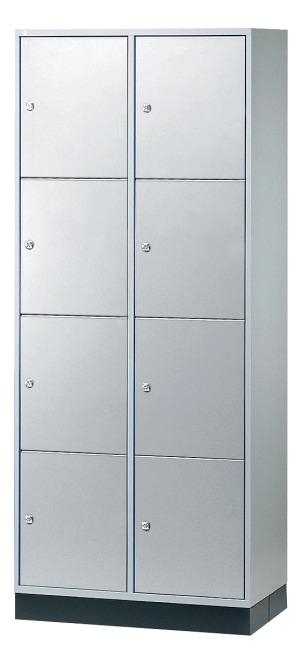 """Großraum-Schließfachschrank """"S 4000 Intro"""" (4 Fächer übereinander) 195x82x49 cm/ 8 Fächer, Lichtgrau (RAL 7035)"""