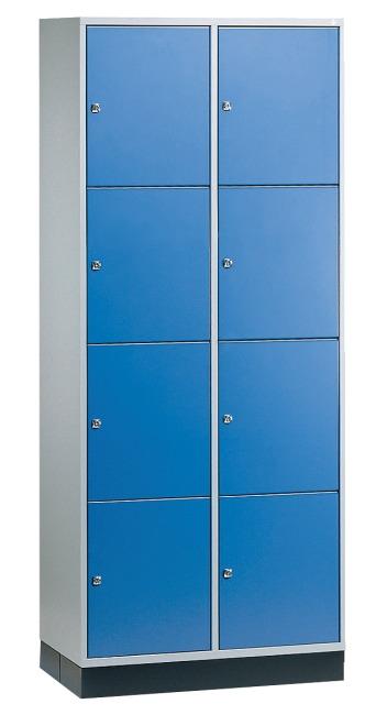 """Großraum-Schließfachschrank """"S 4000 Intro"""" (4 Fächer übereinander) 195x82x49 cm/ 8 Fächer, Enzianblau (RAL 5010)"""