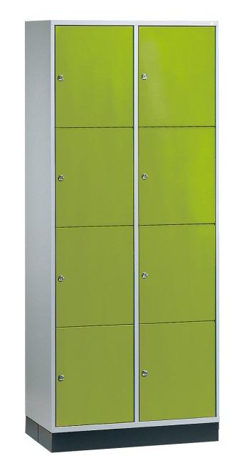 """Großraum-Schließfachschrank """"S 4000 Intro"""" (4 Fächer übereinander) 195x82x49 cm/ 8 Fächer, Viridingrün (RDS 110 80 60)"""