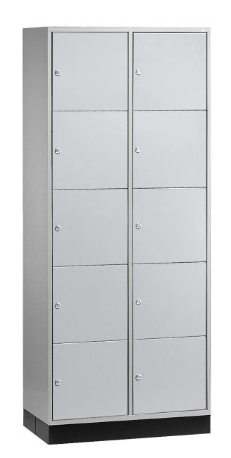 """Großraum-Schließfachschrank """"S 4000 Intro"""" (5 Fächer übereinander) 195x85x49 cm/ 10 Fächer, Lichtgrau (RAL 7035)"""