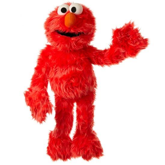 Handpuppen aus der Sesamstraße Elmo