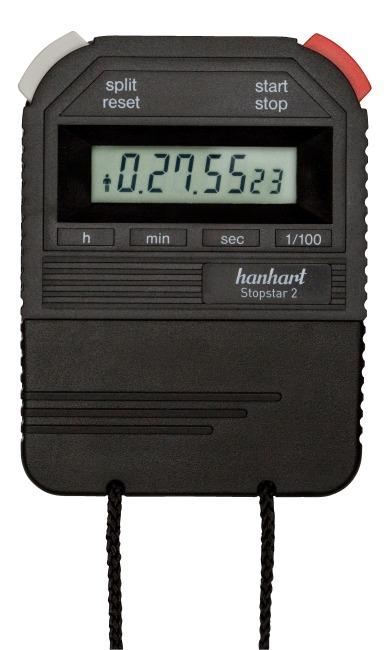 """Hanhart """"Stopstar 2"""" Stopwatch Black"""
