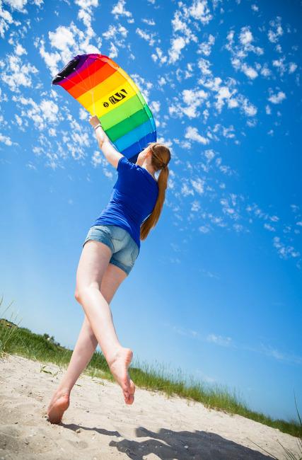 """HQ Lenkmatte """"Symphony Beach"""" 130 cm, Rainbow"""