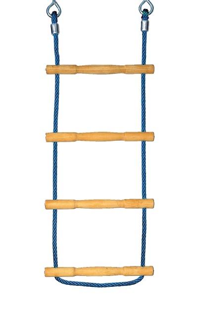 Huck Strickleiter Herkules-Tau mit Holzsprossen Blau