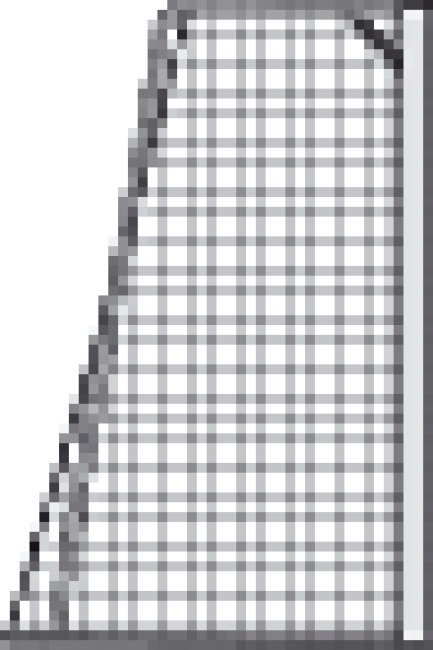 Knotenloses Jugendfußballtornetz 515x205 cm Grün-Weiß