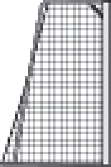 Knudeløse net til 7-mands mål, 515x205 cm Grøn-hvid