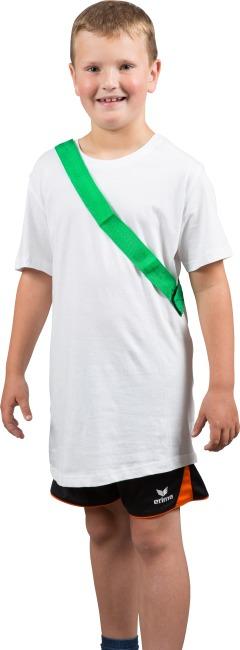 Mannschaftsband mit Klettverschluss Kinder, L: ca. 50 (100) cm, Grün