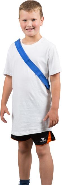 Mannschaftsband mit Klettverschluss Kinder, L: ca. 50 (100) cm, Blau