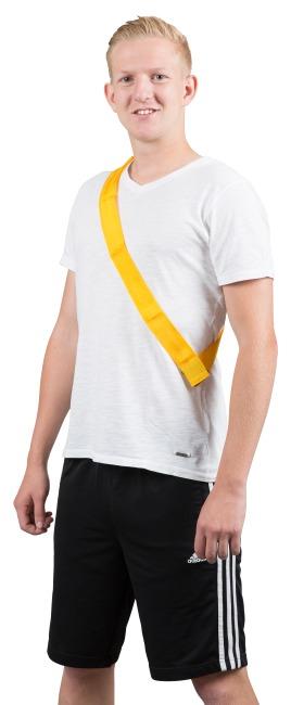 Mannschaftsband mit Klettverschluss Erwachsene, L: ca. 60 (120) cm, Gelb