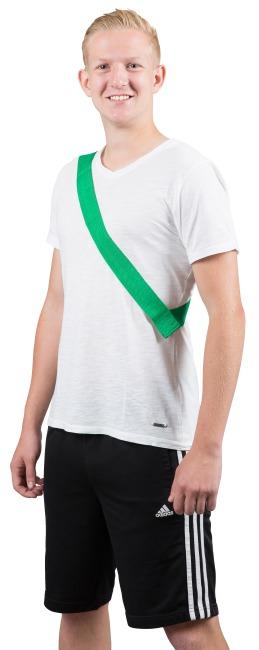 Mannschaftsband mit Klettverschluss Erwachsene, L: ca. 60 (120) cm, Grün