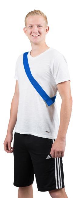 Mannschaftsband mit Klettverschluss Erwachsene, L: ca. 60 (120) cm, Blau