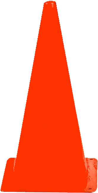 Markeringskegle 20,5x20,5x37 cm, Orange
