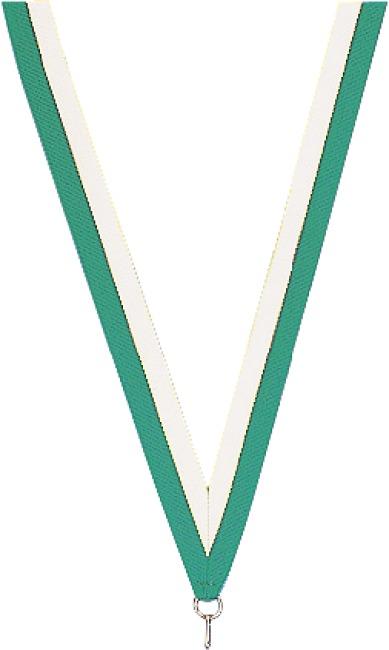 Medaillen-Band Grün-Weiß
