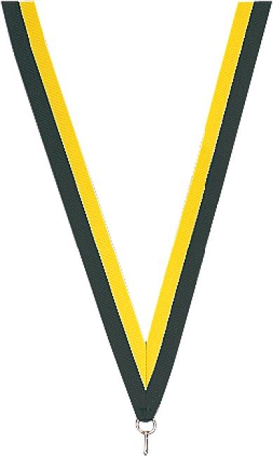 Medaillen-Band Schwarz-Gelb