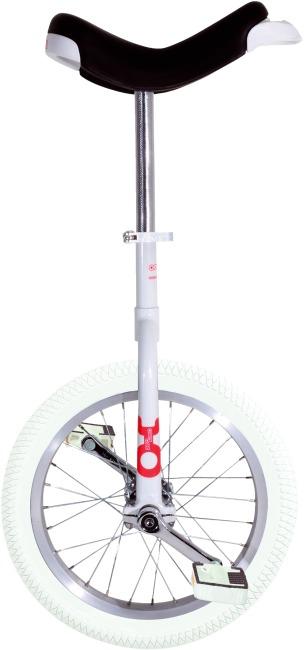 """OnlyOne® Einrad """"Indoor"""" 16 Zoll Reifen (ø 41 cm), Rahmen Weiß"""