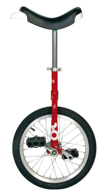 "OnlyOne Ethjulet Cykel ""Outdoor"" 16'', 28 eger, rød"