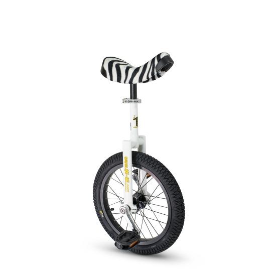 """Qu-Ax® Einrad """"Luxus"""" Zebra 16'' ca. 40,6 cm), 28 Speichen, weiß"""