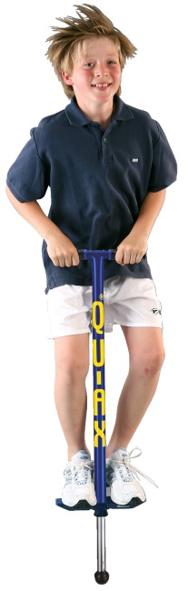 Qu-Ax® Pogo Stick Blue, L: 98 cm, up to 50 kg