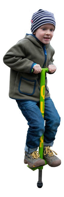 Qu-Ax® Pogo Stick Neon green, L: 86 cm, up to 20 kg