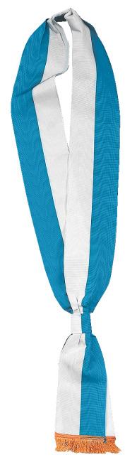 Schärpen Blau-Weiß, 7,5x190 cm