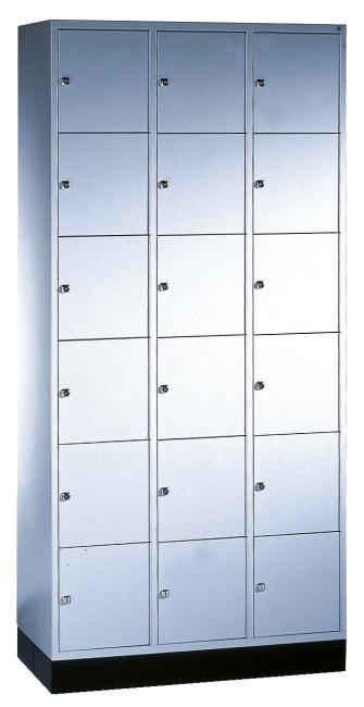 """Schließfachschrank """"S 4000 Intro"""" (6 Fächer übereinander) 195x92x49cm/ 18 Fächer, Lichtgrau (RAL 7035)"""