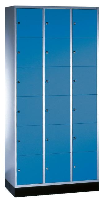 """Schließfachschrank """"S 4000 Intro"""" (6 Fächer übereinander) 195x92x49cm/ 18 Fächer, Enzianblau (RAL 5010)"""