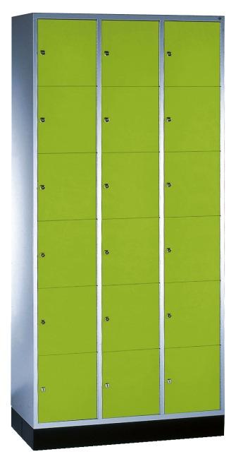 """Schließfachschrank """"S 4000 Intro"""" (6 Fächer übereinander) 195x92x49cm/ 18 Fächer, Viridingrün (RDS 110 80 60)"""