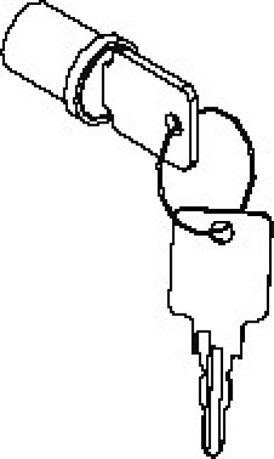 Schließzylinder für Flügeltürenschränke