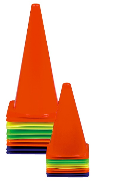 Set of 10 Marking Cones 20.5x20.5x37 cm