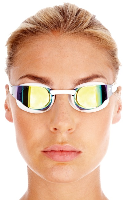 Speedo® Schwimmbrille Fastskin3 Elite Goggle Mirror White/Gold