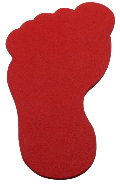 Sport-Thieme Bodenmarkierung Fuß, 20 cm, Rot