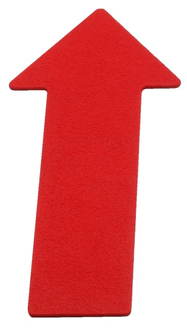 Sport-Thieme® Bodenmarkierung Pfeil, 35 cm, Rot